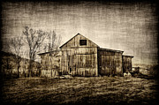 Barn On Farm Print by Dan Friend