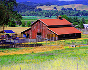 William Havle - Barn on Route to Fort Bragg