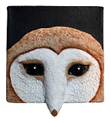 Bird Portrait Reliefs - Barn Owl by Carol Young