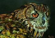 Barn Owl Print by Marily Valkijainen