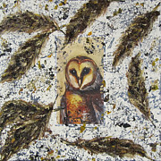 Impressionist Mixed Media - Barn Owl Uncaged by Jeanne Ward