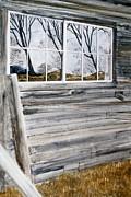 Barn Reflection Print by Karol Wyckoff