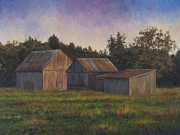 David P Zippi - Barn Scene off of Rte. 6...