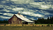 Old Cabins Prints - Barn Print by Steve McKinzie