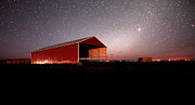 Ranchers Posters - Barn Under Meteor Shower Oregon Poster by Michele AnneLouise Cohen