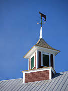 Weather Vane Prints - Barn Weathervane Print by Edward Fielding