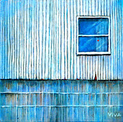 Shed Painting Prints - Barn Window Print by Vivian ANDERSON