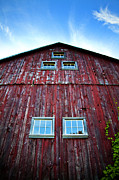 Barn Photo Metal Prints - Barn Windows Metal Print by Jeff Klingler