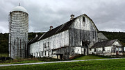 Barn Digital Art Metal Prints - Barn with Silo Metal Print by Michael Spano