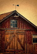 Weathervane Photo Prints - Barn with Weathervane Print by Jill Battaglia