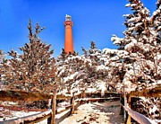 Barnegat Light Posters - Barnegat after the snow Poster by Nick Zelinsky