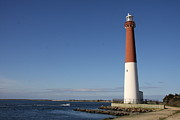 Barnegat Inlet Photo Posters - Barnegat Inlet And Light Poster by Christiane Schulze