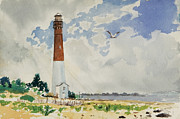 Barnegat Inlet Prints - Barnegat Light Print by Jim Kelly