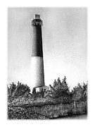 New Jersey Drawings - Barnegat Lighthouse by Greg DiNapoli