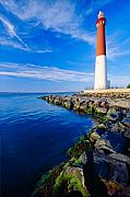 Long Beach Island Framed Prints - Barnegat Lighthouse Long Beach Island New Jersey Framed Print by George Oze