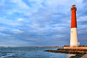 Jersey Shore Framed Prints - Barnegat Lighthouse Framed Print by Olivier Le Queinec