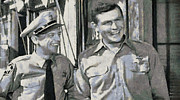 Griffith Digital Art Framed Prints - Barney Fife and Andy Taylor Framed Print by Paulette Wright