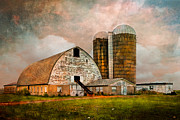 Farming Barns Posters - Barns in the Country Poster by Debra and Dave Vanderlaan