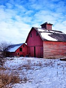 Illinois Barns Prints - Barnstorm Print by Tom Druin