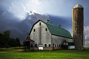 Old Barns Prints - Barnstormer Print by Debra and Dave Vanderlaan