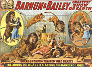 And Posters Drawings Prints - Barnum & BaileyÕs  1915 1910s Usa Print by The Advertising Archives