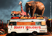 Trailers Posters - Barnum and Bailey Fabulous Holiday Roadtrip Across The USA Circa 2013 5D22705 Poster by Wingsdomain Art and Photography