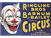 And Posters Drawings Prints - Barnum And BaileyÕs Circus 1920s Usa Print by The Advertising Archives