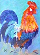 Rooster Art - Barnyard Boss by Lynn Rattray