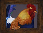 Chicken Pastels - Barnyard Bully by Michele Turney