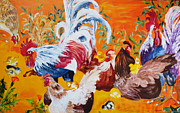 Suzanne Willis Metal Prints - Barnyard Scene Metal Print by Suzanne Willis