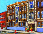 Old School House Paintings - Baron Byng High School 4251 St. Urbain Street Plateau Montreal City  Scene Carole Spandau Montreal A by Carole Spandau