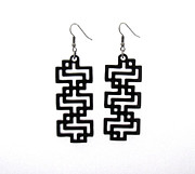Perspex Jewelry Jewelry - Baronyka Black Geometric Earrings by Rony Bank