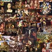 Old Masters Mixed Media Posters - Baroque art 16th to 17th century Poster by Anders Hingel