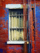 Dilapidated Digital Art - Barred Window Hells Kitchen by RC deWinter