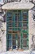 Cage Art - Barred Window Santorini by Antony McAulay
