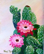 Barrel Paintings - Barrel Cactus by Janis  Tafoya