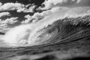 Waves Energy Prints - Barrel Clouds Print by Sean Davey