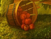 Harvest Paintings - Barrel of Apples by Eric Scott Hayes