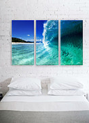 Perfect Wave Framed Prints - Barrel Swirl Framed Print by Sean Davey