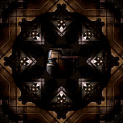 Indiana Photography Posters - Barrels in the Barn Kaleidoscope Poster by Jim Finch