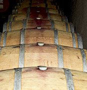 Wine Cellar Photo Originals - Barrels by Leslie Reitman