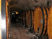 Wine Cellar Photos - Barrels of Wine by Fran James