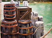 Ellen Canfield - Barrels on the Pier