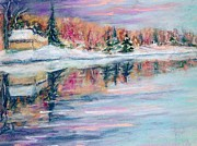 Snow Pastels - Barries Pond by Lorrie Sniderman