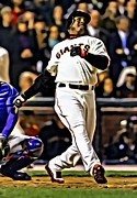 Barry Bonds Posters - Barry Bonds Canvas Poster by Florian Rodarte