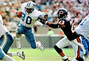 Touchdown Framed Prints - Barry Sanders amazing poster Framed Print by Sanely Great