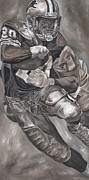 David Courson Art - Barry Sanders by David Courson
