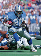 Touchdown Framed Prints - Barry Sanders NFL Hall of Fame Framed Print by Sanely Great