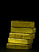 Success Metal Prints - Bars of Gold Metal Print by Edward Fielding