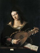 Lute Prints - Bartolomeo Veneto Second Half Print by Everett